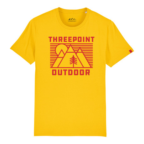 Outdoor Lines T-Shirt // Spectra Yellow (S)