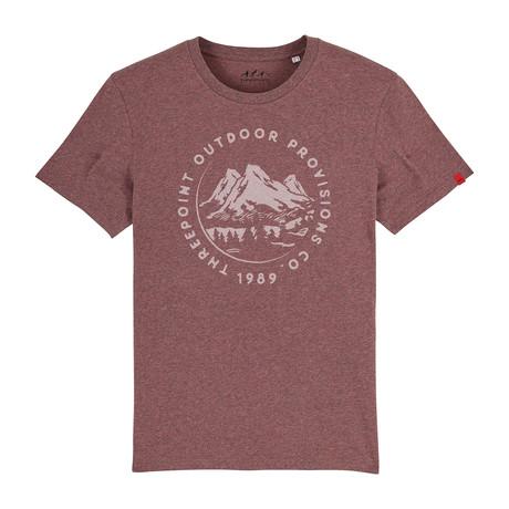 Mountain Range T-Shirt // Black Heather Cranberry (S)
