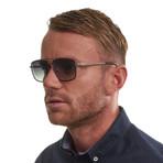 Men's Oval Sunglasses // Brown + Gray