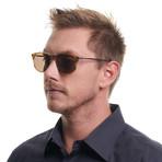 Men's Trapezium Sunglasses // Tan + Tan