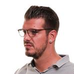 Men's Full-Rim Metal Optical Frames // Brown