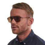 Men's Oval Sunglasses // Brown + Brown