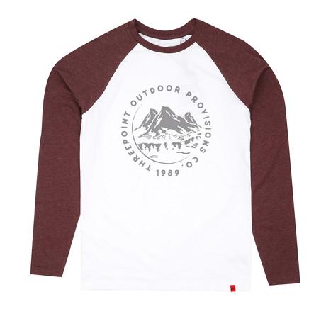 Mountain Range T-Shirt // White + Plum Marl (S)