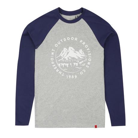 Mountain Range T-Shirt // Gray Heather + Navy (S)