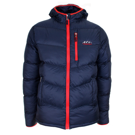 Buffalo Peak Puffa Jacket // Blue + Red (S)