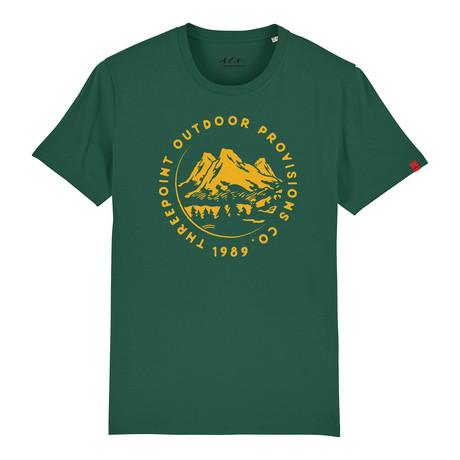 Mountain Range T-Shirt // Bottle Green (S)