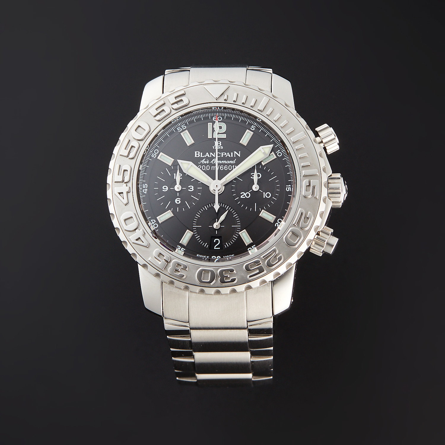 Blancpain Specialties Air Command Flyback Chronograph Automatic 2285f 1130 71 Pre Owned Superior Timepieces Touch Of Modern