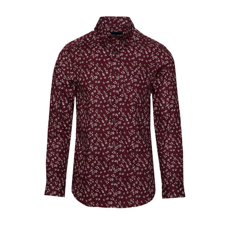 Button Down // Burgundy Ditsy (S)