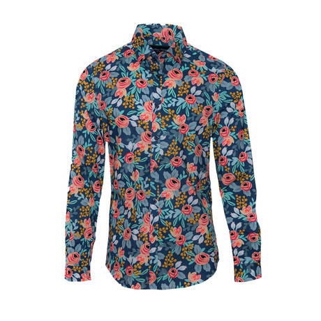 Spread Collar // Rose + Rust Floral (S)