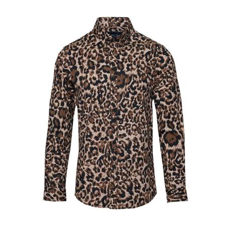 Button Down // Leopard (S)