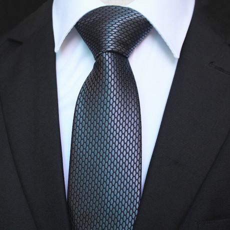 Silk Neck Tie + Gift Box // Metallic Gray