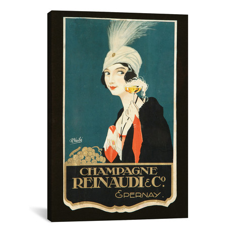 "Champagne Renaudi & Co. // Vintage Apple Collection (12""W x 18""H x 0.75""D)"