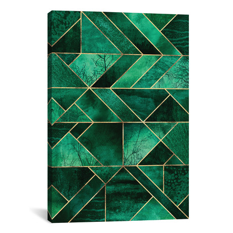"Abstract Nature - Emerald Green // Elisabeth Fredriksson (12""W x 18""H x 0.75""D)"