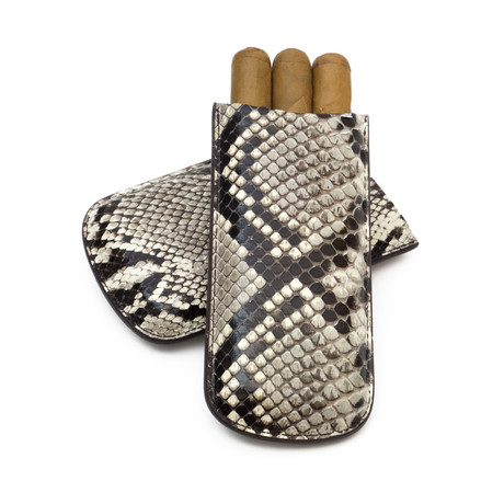 Genuine Python Cigar Case // Standard // Natural