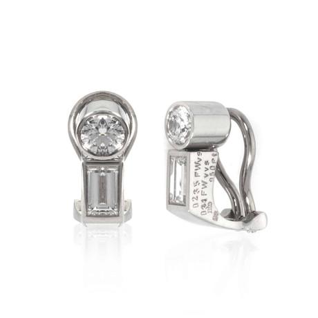 Bucherer 18k White Gold Diamond Earrings I