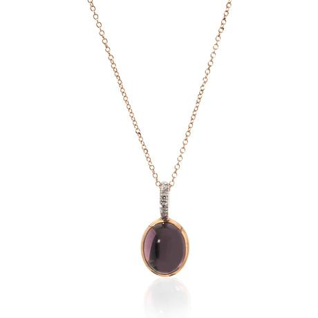 Mimi Milano 18k Two-Tone Gold Amethyst + Diamond Pendant Necklace II