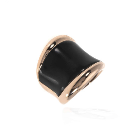 Bucherer 18k Rose Gold + Wood Ring // Ring Size: 7
