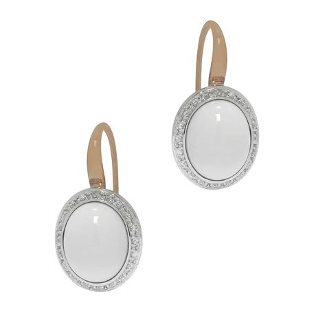 Mimi Milano 18k Two-Tone Gold Agate + Diamond Earrings