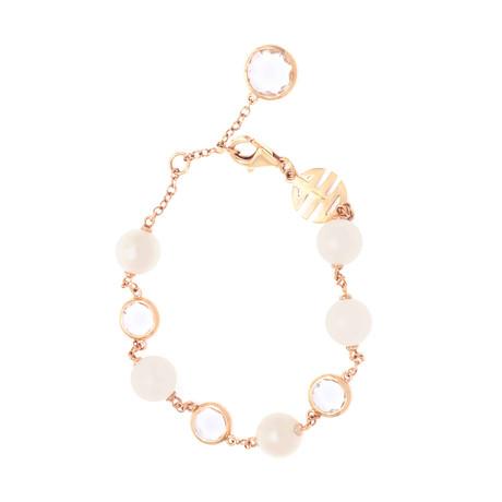 Mimi Milano 18k Rose Gold Rock Crystal Bracelet