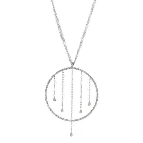 Piero Milano 18k White Gold Diamond Necklace I
