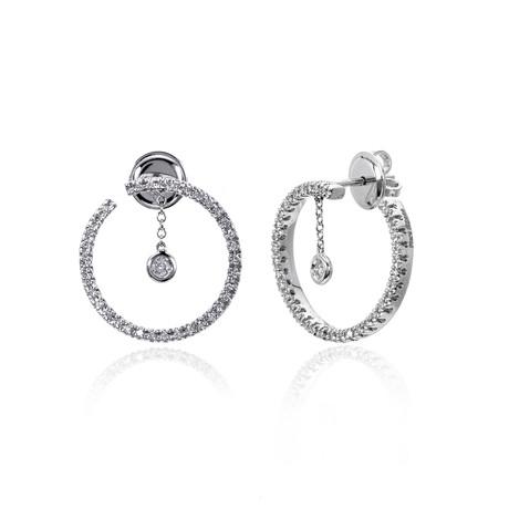 Piero Milano 18k White Gold Diamond Earrings I