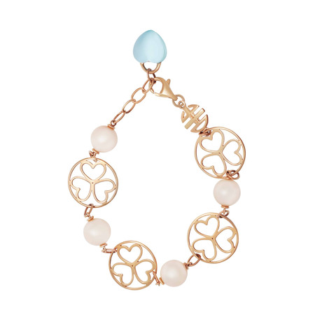 Mimi Milano 18k Rose Gold Topaz Bracelet