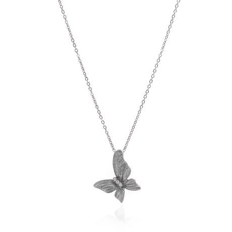 Piero Milano 18k White Gold Diamond Necklace V