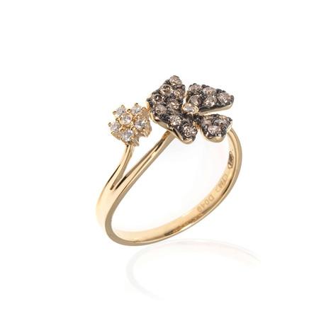 Piero Milano 18k Yellow Gold Diamond Statement Ring // Ring Size: 7.75