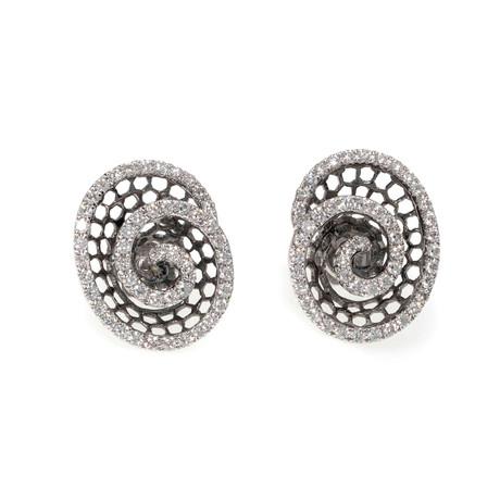 Piero Milano 18k White Gold Diamond Stud Earrings III