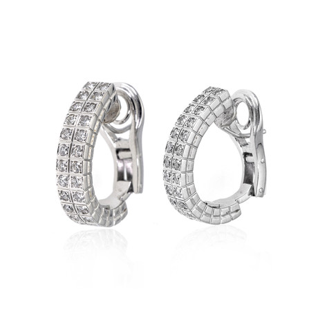 Piero Milano 18k White Gold Diamond Earrings V