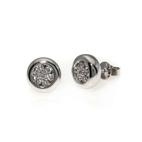 Piero Milano 18k White Gold Diamond Stud Earrings I