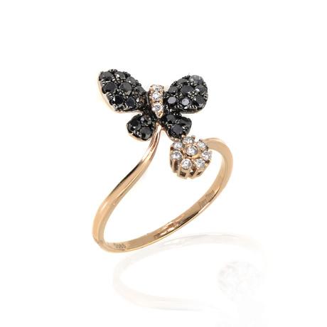 Piero Milano 18k Rose Gold Diamond Ring // Ring Size: 7.75