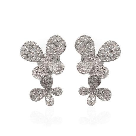 Piero Milano 18k White Gold Diamond Stud Earrings II