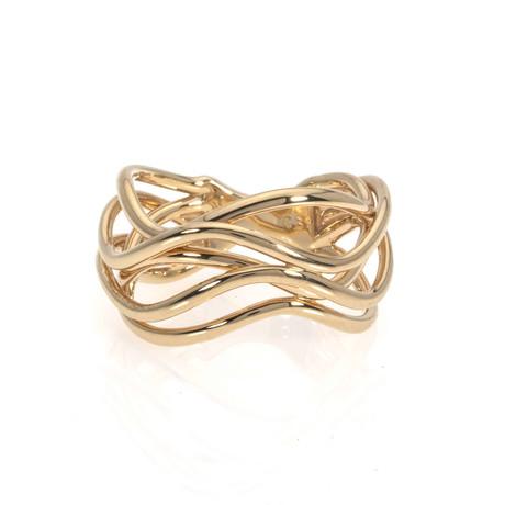 Bucherer 18k Yellow Gold Ring // Ring Size: 7