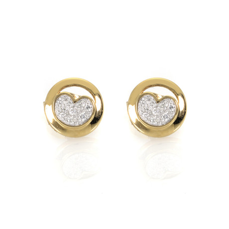 Piero Milano 18k Yellow Gold Diamond Earrings