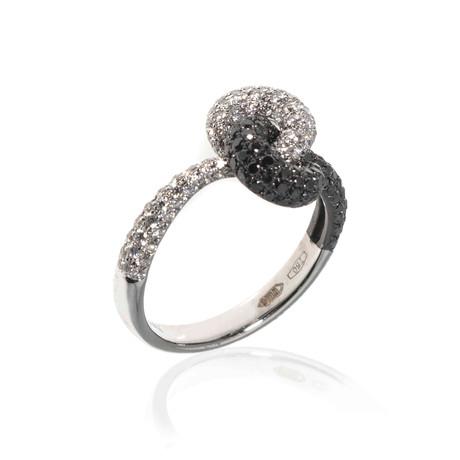 Piero Milano 18k White Gold Diamond Statement Ring // Ring Size: 6