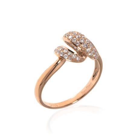 Piero Milano 18k Rose Gold Diamond Statement Ring // Ring Size: 7.75