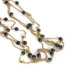 Bucherer 18k Yellow Gold + Wood Necklace