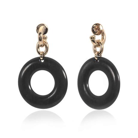 Bucherer 18k Rose Gold + Wood Earrings