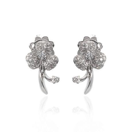 Bucherer 18k White Gold Diamond Earrings II