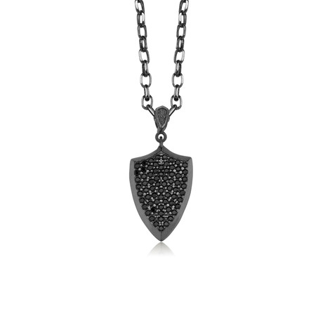 "Rigging Necklace // Black + Silver (22"")"