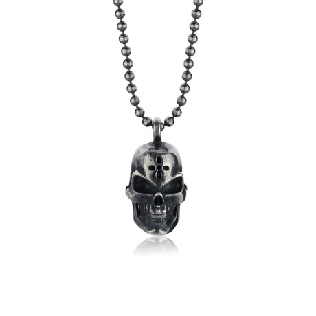 "Skull Necklace // Oxide (22"")"