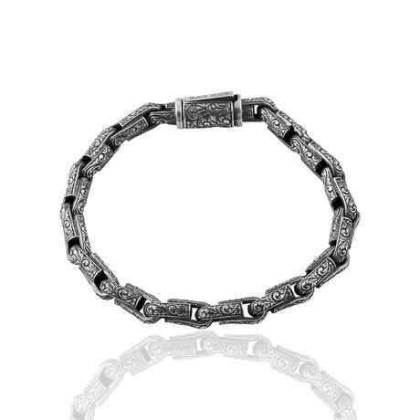 """Hand Engraved Bracelet // Oxide (8"""")"""