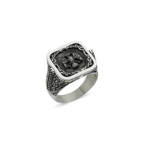 Double Headed Eagle Ring // Silver (8.5)