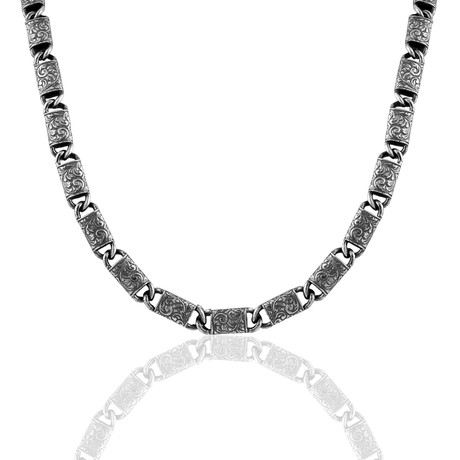 """Hand Engraved Chain // Oxide (22"""")"""