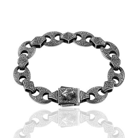 """Fancy Link Bracelet // Oxide (8"""")"""