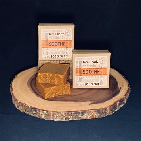 SOOTHE // Calendula Bentonite Clay Herbal Soap // 2 Pack