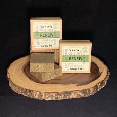 Renew // Hemp Oil & Hemp Seed Herbal Soap // 2 Pack