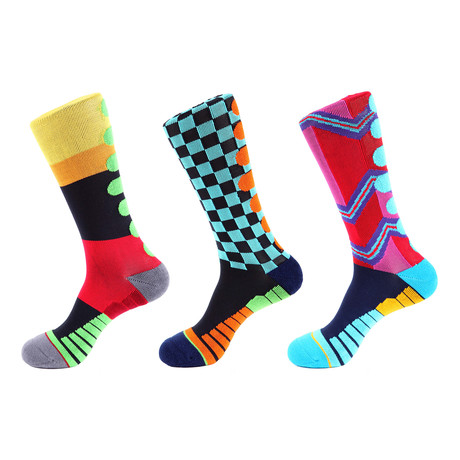Checker Athletic Socks II // Multicolor // Pack of 3