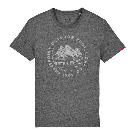 Mountain Range T-Shirt // Slub Heather Steel Gray (S)